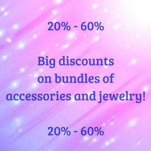 Jewelry, leggings and accessories bundles